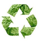 Recycle символ из бумаги — Стоковое фото