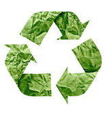 Recycle symbol made of paper — 图库照片