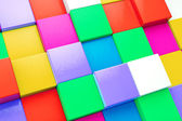 Multicolored cubes background — Stock Photo