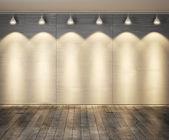 墙上的瓷砖和木地板-抽象背景模板. — 图库照片