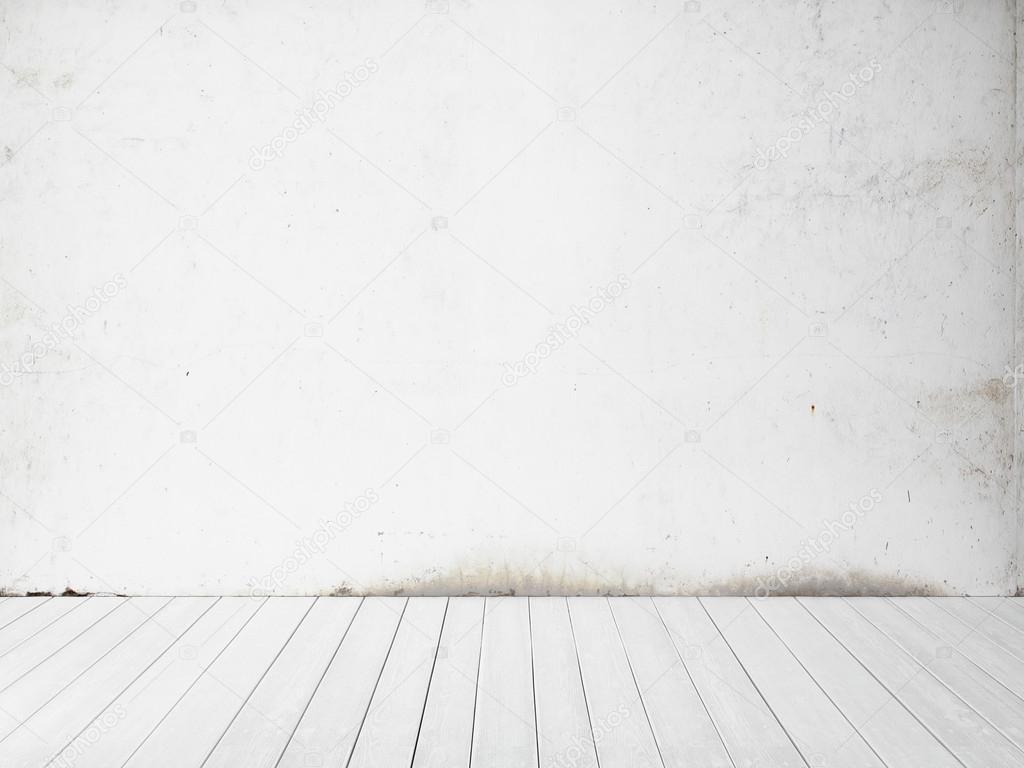 Fondo blanco de la pared y el piso — Foto de stock ...