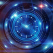 Stock Photo: Time and clock background