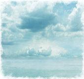 Mavi gökyüzü imajını grunge. — Stok fotoğraf