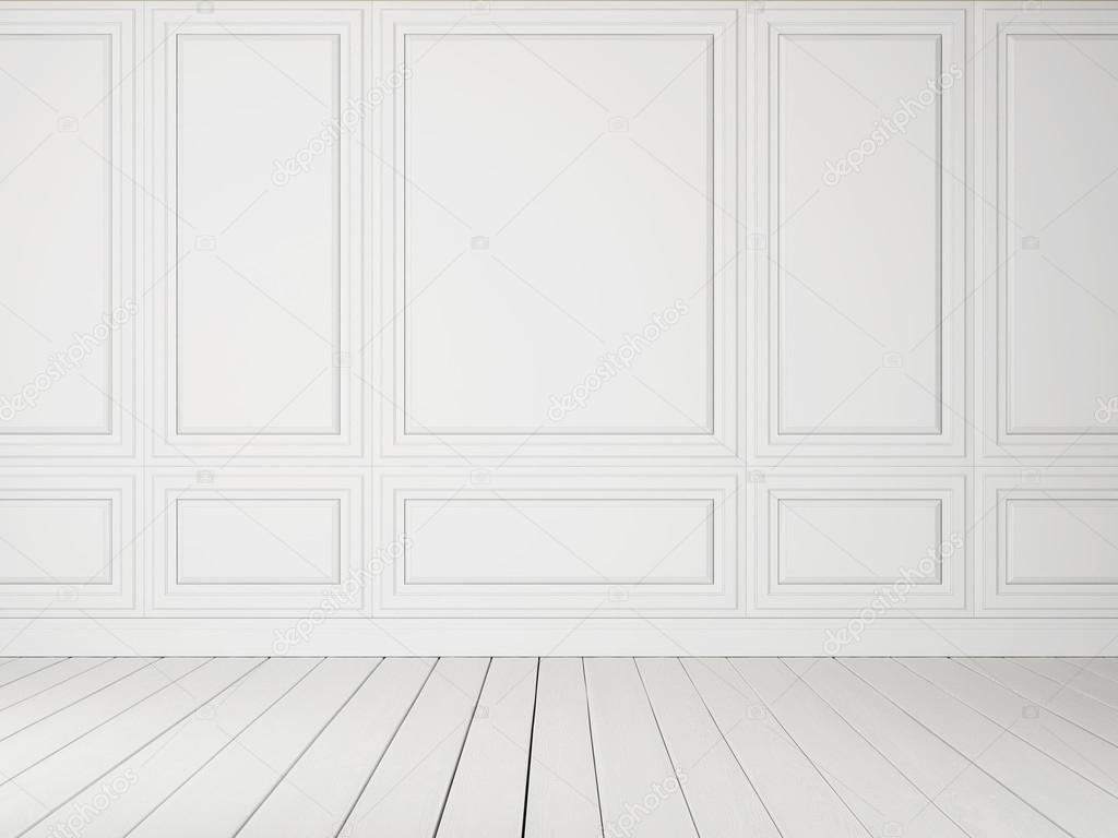 White interior with wood floor stock photo kantver for On the floor on the floor