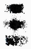 набор брызги черной краской — Стоковое фото