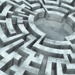 Round labyrinth — Stock Photo #32583709