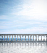 Stone white balustrade — Stock Photo
