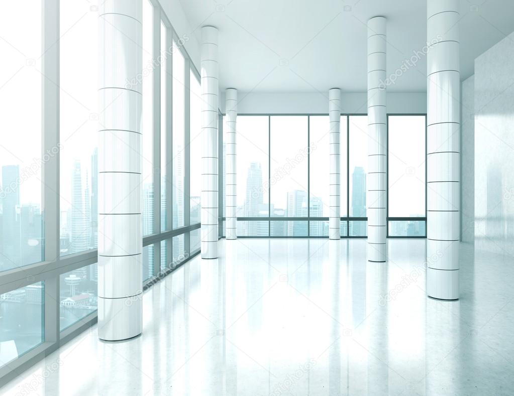 bright empty office interior stock image bright office