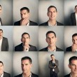 Collage of man emotions portrait — Stock Photo #42732251