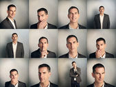 Collage of man emotions portrait — Stock Photo