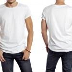 Man wearing t-shirt — Stock Photo