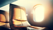 Airplane interior — Stock Photo
