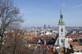 The view of Bratislava, Slovakia — Stock Photo