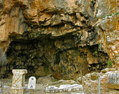 The Grotto of Pan in Banyas, Israel — Foto de Stock