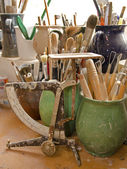 The potters implements — Stock Photo