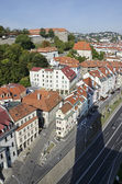 The top view of the Bratislava old town — Stock Photo