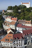 The Bratislava castle with streets of old town — Stock Photo