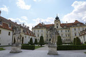 Valtice, the Court of Honor of renaissance castle — Stock Photo