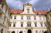 Valtice, the courtyard of renaissance castle — Foto de Stock