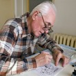 The old cartoonist — Stock Photo #45012611