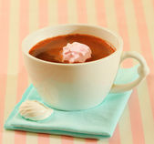 A cup of hot chocolate — Stock Photo