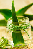 Extract of organic aloe vera gel — Stock Photo