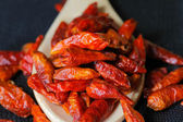 Dry red chili peppers — Stock Photo