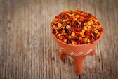 Dried red pepper flakes — Stock Photo