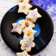 Christmas butter cookies — Stock Photo