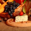 Cheese and fruits still life — Stock Photo