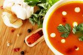 Lentil cream soup — Stock Photo