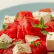 Salad with watermelon and cheese — Stock Photo #28890545