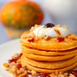 Pumpkin pancakes — Stock Photo #33587669