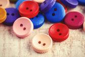 Fond de boutons de vêtements vintage — Photo