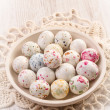 Chocolate easter eggs candy — Stock Photo