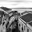 Lisbon, Portugal black and white — Stock Photo