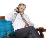 Businessman talking on the phone — Stock Photo
