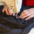 Hand sewing on a machine — Stock Photo #26559997
