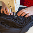 Hand sewing on a machine — Stock Photo #26560007