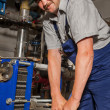 Plumber working — Stock Photo