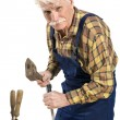 Old master joiner — Stock Photo