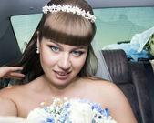 Sposa con un bouquet — Foto Stock