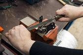 Rasp sharpening tools — Stock Photo