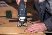 Drewniana deska do krojenia pracownika — Zdjęcie stockowe