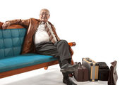 Man on sofa — Stock Photo