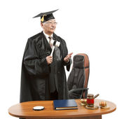 Mature judge — Stock Photo