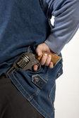 Hiding gun — Stock Photo