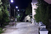 Old Town street at night — Foto Stock