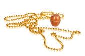 Cream and gold beads — ストック写真