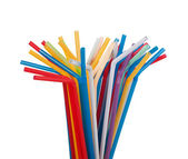 Colour drinking straws — Stock Photo
